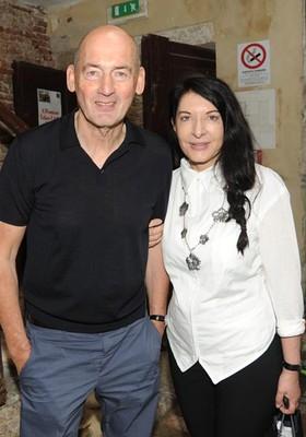 Koolhaas e Marina Abramovic  (Foto: Billy Farrell (http://bfanyc.com))