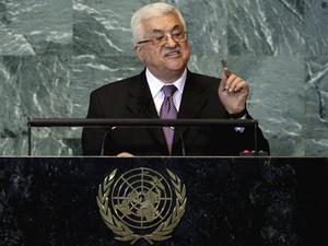 Mahmoud Abbas na ONU (Foto: Richard Drew / AP)