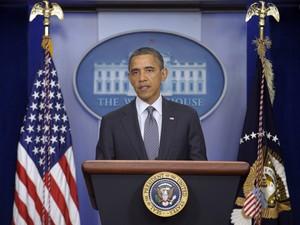 O presidente dos Estados Unidos, Barack Obama, anuncia a retirada total das tropas americanas do Iraque até o fim de 2011 (Foto: Susan Walsh / AP)