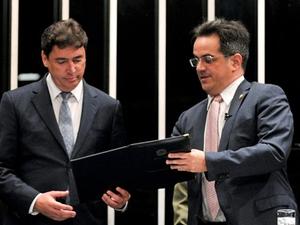 Wilder de Morais toma posse no Senado (Foto: Geraldo Magela/Agência Senado)