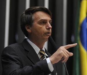O discurso do deputado Jair Bolsonaro (PP-RJ) no plenário da Câmara foi retirado das notas taquigráficas (Foto: Leonardo Prado/Câmara dos Deputados)