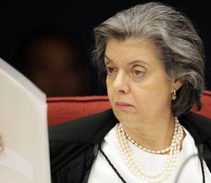 Ministra Cármen Lúcia na sessão da 1ª Turma (Foto: Carlos Humberto/SCO/STF)