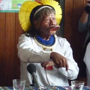 O líder indígena Raoni Metuktire, do povo Kayapó, em foto de 2009 (Foto: Divulgação)