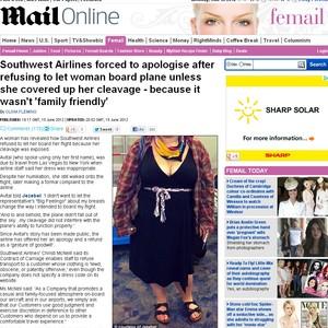Southwest Airlines (Foto: Reprodução / Daily Mail)
