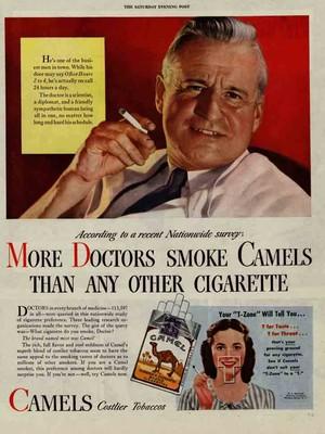 """""""Mais médicos fumam Camel do que qualquer outro cigarro"""" (Foto: Divulgação)"""