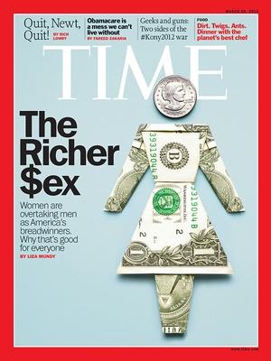 """O livro """"The Richer Sex"""" é capa da revista Time (Foto: Reprodução internet)"""