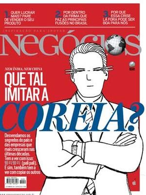 """""""Que tal imitar a Coreia?"""", matéria de capa da edição de setembro, que rendeu o Prêmio Citi à jornalistaDébora Fortes(Foto: Época NEGÓCIOS)"""