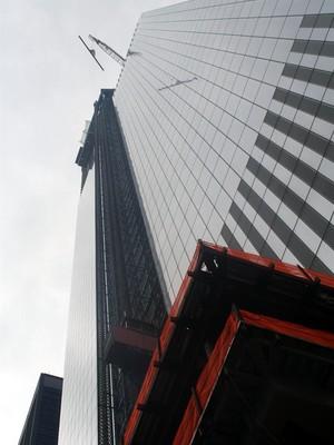 Primeira torre do complexo WTC, em Nova York (Foto: Agência EFE)