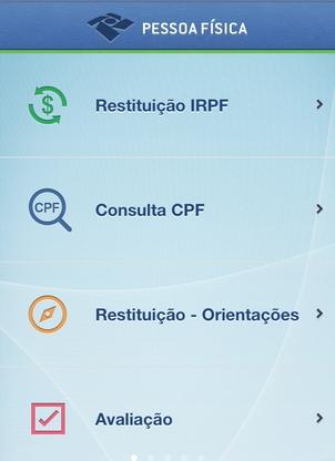 Aplicativo para smartphone da Receita Federal (Foto: Reprodução)