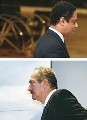 MAIS FAXINA O ex-ministro do Esporte Orlando Silva (no alto), do PCdoB, no Palácio do Planalto, após sua demissão, na semana passada. Ele foi substituído pelo colega de partido Aldo Rebelo (acima), que recebeu a missão de moralizar a pasta (Foto: Sérgio Lima/Folhapress e Lula Marques/Folhapress)
