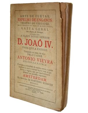 DENÚNCIA Uma edição de 1926 do livro Arte de furtar, obra finalizada em 1652 para alertar o rei de Portugal sobre os malfeitos de seus súditos no Brasil Colônia  (Foto: Sidinei Lopes )