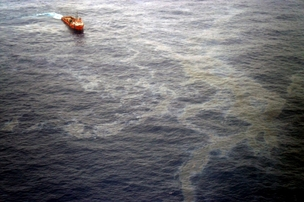 Vazamento da Chevron na Bacia de Campos (Foto: Agência Brasil)