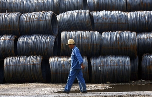Trabalhador da China Steel (Foto: Getty Images)