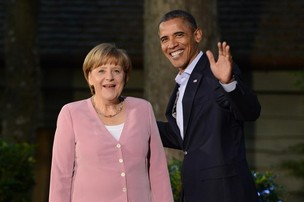 Angela Merkel e Barack Obama (Foto: Agência EFE)