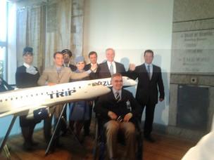 Executivos da Azul e da Trip anunciam nesta segunda-feira a união das duas empresas  (Foto: Amanda Camasmie/Época NEGÓCIOS)