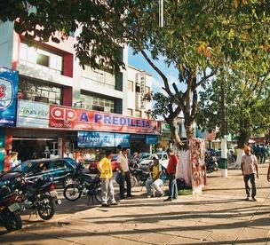 No centro de Palmares (PE), típica cidade classe D, o comércio floresceu (Foto: Claus Lehmann)