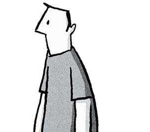 Autoilustração do quadrinista (Foto: Ilustração: Guy Delisle)