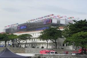 Forte de Copacabana, onde é realizado o evento paralelo da Rio+20, promovido pela Fiesp e Firjan, chamado Humanidade  (Foto: Clarice Couto/ Época NEGÓCIOS)