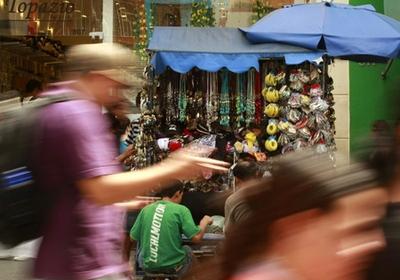 Varejo no centro de São Paulo: alta do comércio (Foto: Agência Estado)