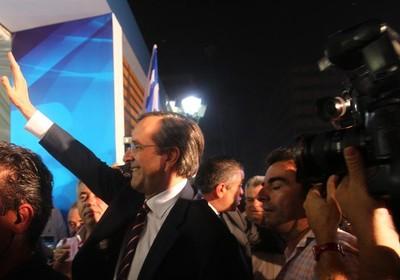 Samaras, líder do partido da Nova Democracia (Foto: Agência EFE)