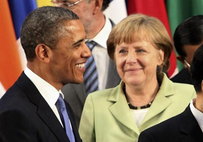 Obama e Merkel (Foto: EFE)