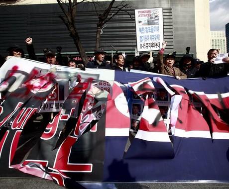 Manifestantes protestam contra energia nuclear na Coreia do Sul (Foto: Agência EFE)