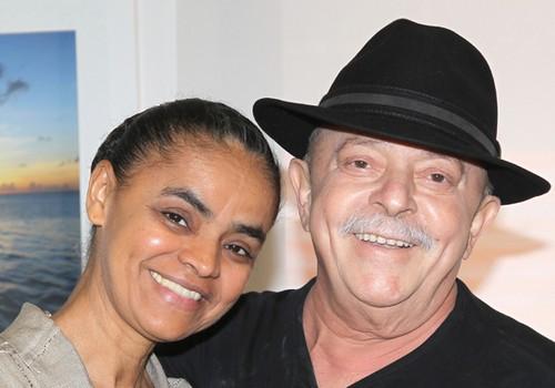 Marina Silva vista o ex-presidente Lula no Hospital (Foto: Heinrich Aikawa/Instituto Lula)