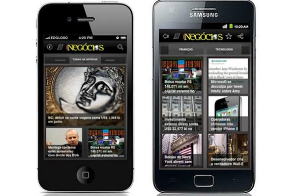 Aplicativo de Época NEGÓCIOS para smartphone (Foto: Divulgação)