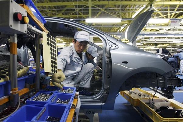 Economia do Japão Toyota Montadora Linha de montagem Fábrica da Toyota Exportação do Japão (Foto: Getty Images)
