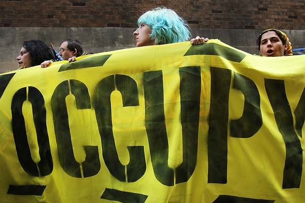 Manifestantes do movimento Occupy em Wall Street, Nova York (Foto: Getty Images)