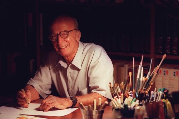 Morre o escritor Millôr Fernandes aos 88 anos no Rio. Na foto, Miloor Fernandes em 16/02/2000 (Foto: Ana Branco / Agência O Globo)