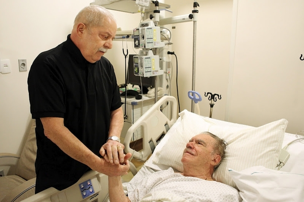 Lula visita José Sarney no hospital em São Paulo (Foto: Ricardo Stuckert/Instituto Lula)
