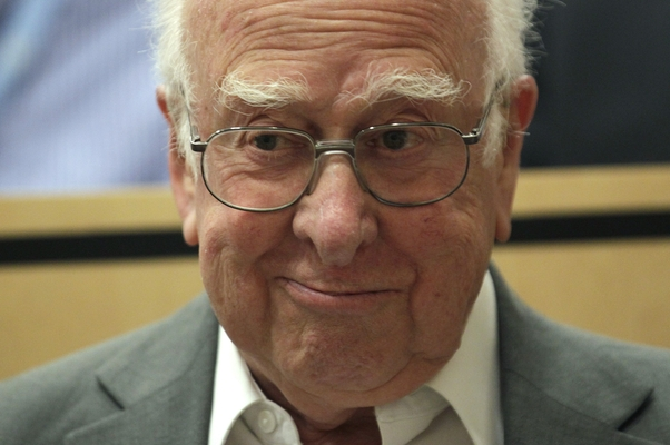 Peter Higgs (Foto: AP Photo/Denis Balibouse, Pool)