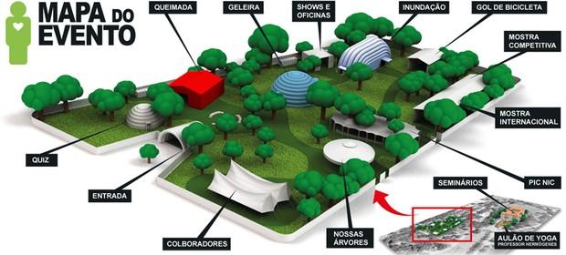 Mapa do Green Nation Fest (Foto: Reprodução Internet)
