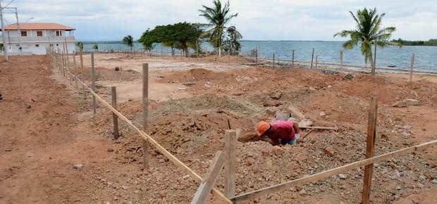 Reforma do balneário de Glória, na Bahia (Foto: MG Fotos)