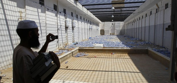Prisão de Abu Salim, em Trípoli (Foto: François Mori/AP)