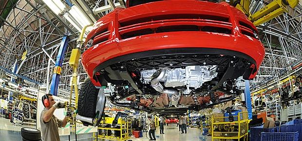 Linha de montagem da Fiat em Minas Gerais (Foto: Divulgação)