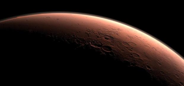 Superfície de Marte e suas crateras, em imagem capturada pela Nasa (Foto: NASA/JPL-Caltech)