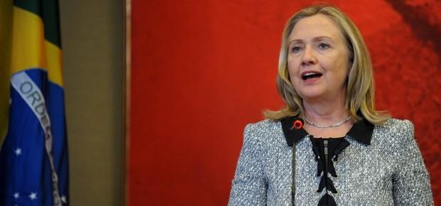 A secretária de Estado dos EUA, Hillary Clinton, em visita ao Brasil (Foto: Agência Brasil)