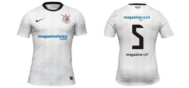 Esta será a camisa do volante Ralf na partida de amanhã entre Corinthians e Vasco (Foto: Divulgação)