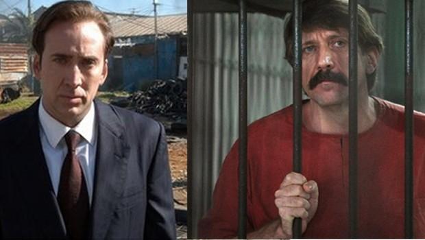 """Nicolas Cage, em cena de """"O Senhor das Armas"""" e  Viktor Bout, bilionário russo que inspirou o filme (Foto: Divulgação / Agência EFE)"""