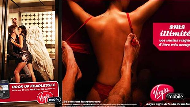 Virgin Mobile faz propaganda de pacotes de textos ilimitados: linguagem direta e que já rendeu muita polêmica (Foto: Reprodução internet)