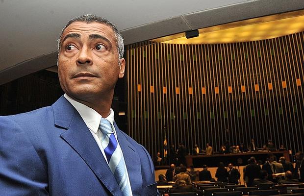 Romário visita a Câmara dos Deputados (Foto: José Cruz/ABr)