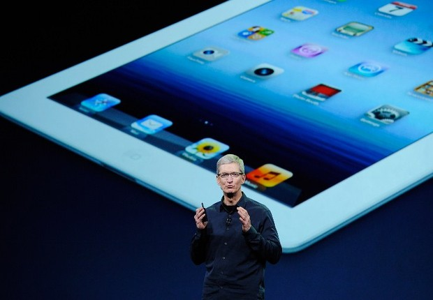 Tim Cook iPad3 (Foto: AFP Photo)