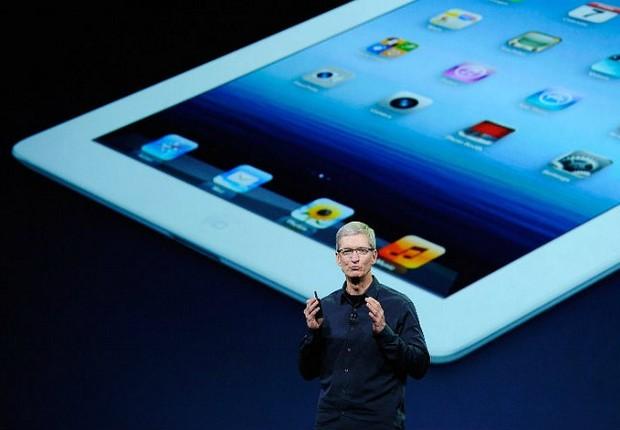 Tim Cook apresenta o novo iPad (Foto: AFP Photo)