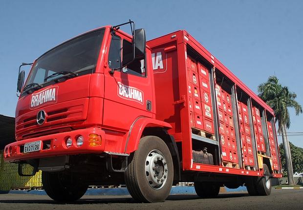 Caminhão da Ambev transporta Cerveja Brahma (Foto: Divulgação)