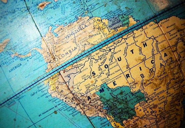 América do Sul América Latina Brasil (Foto: Reprodução internet)