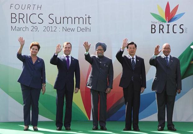 Reunião dos Brics na Índia (Foto: Agência EFE)