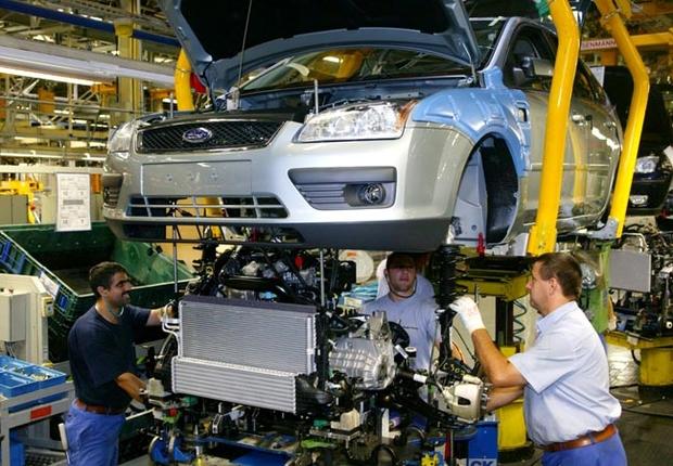 Linha de montagem da Ford em São Paulo Veículos Carro Indústria (Foto: Divulgação)