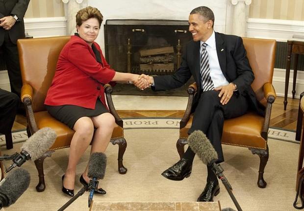"""Dilma e Obama querem seus países """"mais próximos"""""""